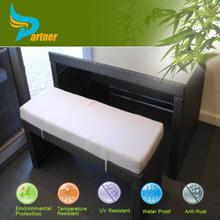 Simple Design Outdoor / Home Ratan Glass Bar Counter Design Bar Fruniture with Rattan Long Bar Chair
