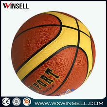 9.5' pvc laminated leather basket ball