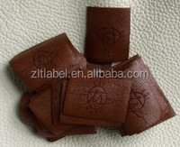 Hot Embossing Suede fabric and leather Labels