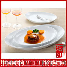 Popular nice white porcelain dinner plate,restaurant plate,wedding crockery