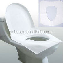 OEM 1/2 Disposable fitted white tissue paper toilet seat cover for travelling made in China