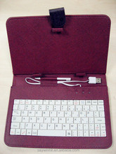 Mystery Purple Leather tablet keyboard case with data cables for 7 to 10 inch tablet PC
