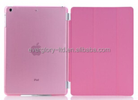 Leather Case with Clear Matt PC Back with Sleep Function ( Retail Packing ) for ipad