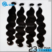 Alibaba Certificated Factory Supply Natural Color Double Weft Tangle Free attachment hair