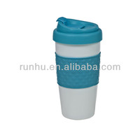 acrylic thermos plastic coffee cups mugs with lid