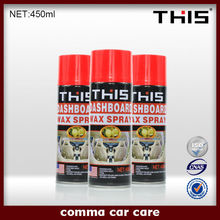 450ml Aerosol Dashboard Wax Polish, Auto Silicone Spray, Car Leather Polish