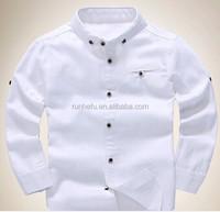 2015 children kid boys 100% cotton fashon long sleeve chambray boy shirt