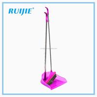 long handled plastic broom and dustpan set