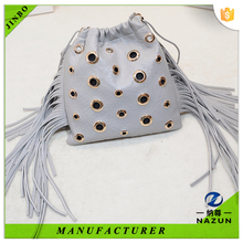 Unique fashion leather drawstring bag for girls