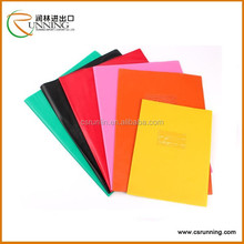 Alibaba china A4 embossed leather book cover for English book protection