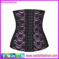 Wholesale high quality purple lace steel bone fitness corset for women
