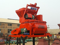 modifiable design 750L JS750 shaft force mixer with lift machine