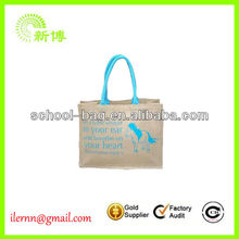 Recyclable Custom Tote Jute Bag wholesale