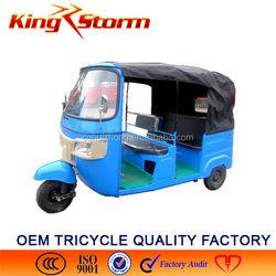 China Bajaj Auto Rickshaw 200CC Passenger Tuk Motorcycle 3 Wheel Motor Tricycle