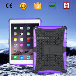 TPU+PC Shockproof hybrid kickstand cover for ipad mini 4 case, 2 in 1 armor case for ipad mini 4