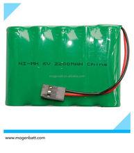 6V 2.2Ah Nimh Aa Recargeable Battery Pack 6 V AA 2200mAh NiMH Battery Pack Nimh Aa Recargeable Battery Pack