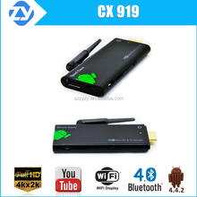 CX919 KODI 4k quad core rk3288 android smart tv stick/dongle mini pc hdmi 2.0 USB dongle