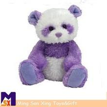 china wholesale custom promotional purple panda plush toys