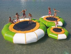 Newest commercial jumping bed cheap inflatable water trampolines