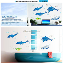 Blue Dolphins Ocean Series with Cute Animals luminous Fluorescent Stickers glow in dark Wall Stickers home decal decor ABQ7601
