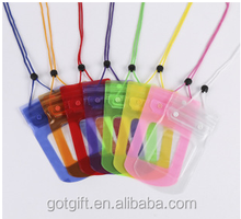 colored hanging waterproof cell phone bag
