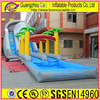 residential inflatable water slide with long slip