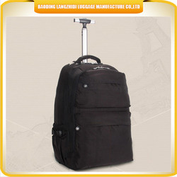 black big capacity laptop school trolley bag with wheels of China factory