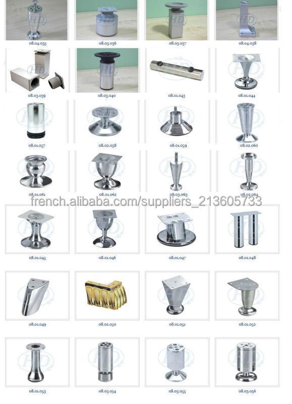 Pied de meuble acier chrom diam tre 30mm hauteur 100mm for Pied de meuble de cuisine