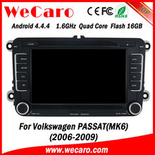 Wecaro built-in Canbus wifi+3G Android Car dvd gps navigation for VW PASSAT MK6 2006-2009 with screen mirroring function