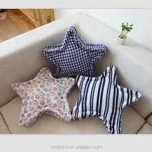 soft elegant pillow star shape kids throw square pillow