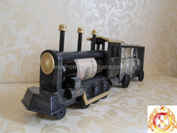 2015 hot sale home furniture storage single bottle and four cups wine holders of wooden train model