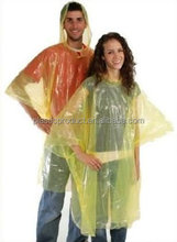 Custom Logo Disposable PE Rain Poncho