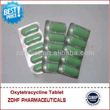 china GMP factory veterinary medicine Oxytetracycline 500mg tablet/bolus for cattle&sheep use
