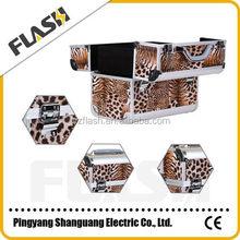 Professional Aluminum Elegant Design Decorative Case Leopard Beauty Makeup Box