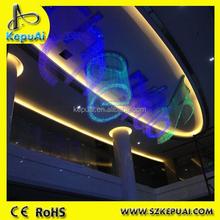 Multi color design fiber optic sign, colorful optical fiber, shinning decorative musical sign