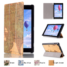 """Latest Innovative Products Vintage PU Leather 10.1"""" Tablet Sleeve for Amazon Kindle Fire HD10 2015 with Sleep Function"""