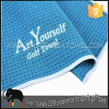 Small thin Art Yourself golf towel clip for club