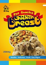 China manufacturer plastic pet food packaging bag