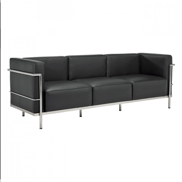 le corbusier sofa lc3 replica 1 1 3 lc3 le corbusier sofa. Black Bedroom Furniture Sets. Home Design Ideas