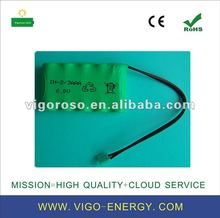 NIMH 2/AAA300 6v rechargeable battery pack