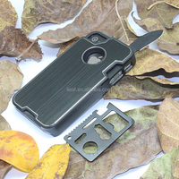 Hot Selling Knife Case for iPhone 4 4S Hard Shell Slide Out Pocket Knife and Camping Multifunction Knife