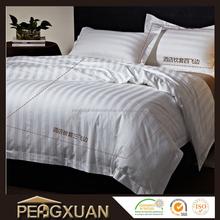 alibaba china hot sale cheap hotel stripe design bed sheet king size