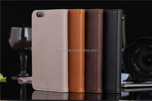 Leather wallet folio mobile phone cover case for iphone 6 4.7/ 6plus, book style leather case for mobile phone