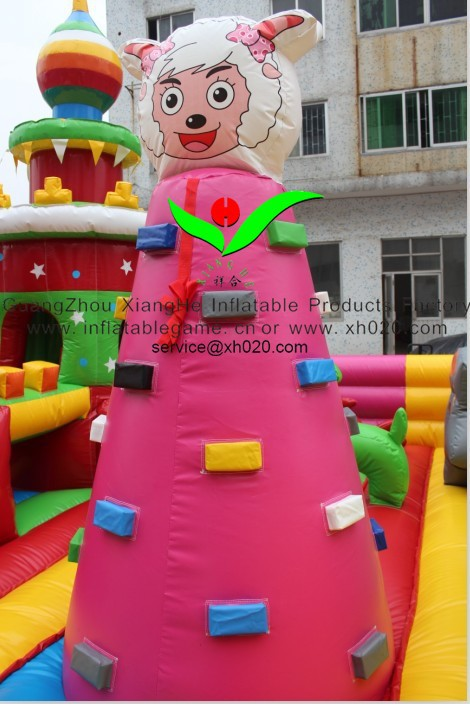 Hot sale commercial grade PVC Tarpaulin brand new FU-054 inflatable fun city castle