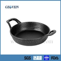 Non-stick cast iron mini frying cooking pan with two handle