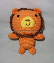 Crochet Animals Knitting toys Handmade Lion Crochet Products