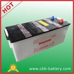 Cheap good quality 170ah 12V heavy duty battery dry charge truck battery N170
