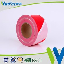 red and white pvc warning adhesive tape