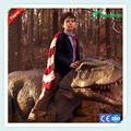 A atração do parque mascote dinossauro t-rex dinossauro traje
