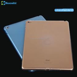 Gold Ultra Thin Soft Transparent Silicone Clear tpu case for iPad 6 iPad air 2